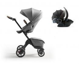 Stokke® Xplory® X Pushchair & Car Seat Modern Grey