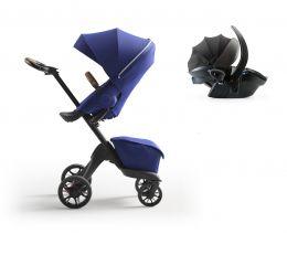 Stokke® Xplory® X Pushchair & Car Seat Royal Blue