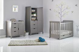 Obaby Stamford Mini 3 Piece Room Set Taupe Grey