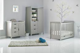 Obaby Stamford Mini 3 Piece Room Set Warm Grey