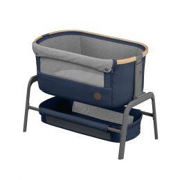 Maxi Cosi Iora Side Sleeping Crib Essential Blue