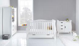 Obaby Stamford Luxe 3 Piece Room Set White