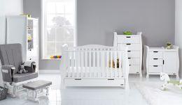 Obaby Stamford Luxe 5 Piece Room Set White