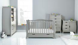 Obaby Stamford Luxe 4 Piece Room Set Warm Grey
