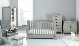 Obaby Stamford Luxe 5 Piece Room Set Warm Grey