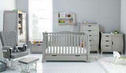 Obaby Stamford Luxe 7 Piece Room Set Warm Grey