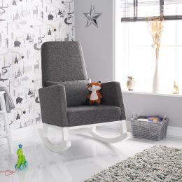 Obaby High Back Rocking Chair Grey Fabric