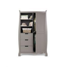 Obaby Stamford Double Wardrobe Taupe Grey