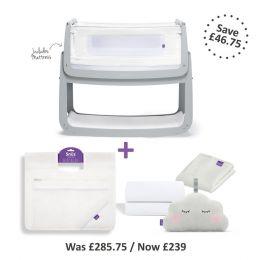 SnuzPod4 Bedside Crib Bundle Dove Grey