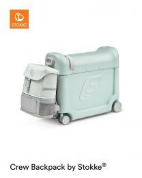 JetKids™ by Stokke® Travel bundle: BedBox™ + Crew BackPack™ Green Aurora