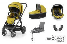 BabyStyle Oyster 3 Essential Bundle Mustard City Grey