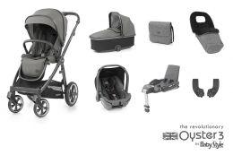 BabyStyle Oyster 3 Luxury Bundle Mercury City Grey