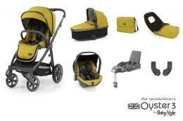 BabyStyle Oyster 3 Luxury Bundle Mustard City Grey