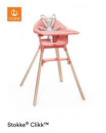 Stokke® Clikk™ High Chair Sunny Coral Plus FREE Travel Bag