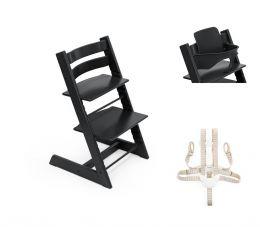 Stokke® Tripp Trapp® Chair, Baby Set™ & Harness Black