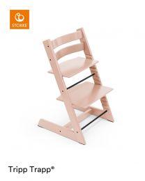 Stokke® Tripp Trapp® Chair Serene Pink & Cushion (+ Free Baby Set)