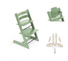 Stokke® Tripp Trapp® Chair, Baby Set™ & Harness Moss Green