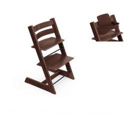 Stokke® Tripp Trapp® Chair & Baby Set™ Walnut