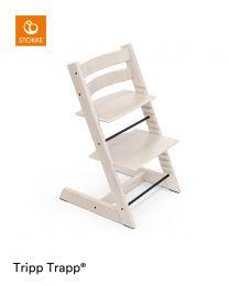 Stokke® Tripp Trapp® Chair Whitewash & Cushion (+ Free Baby Set)