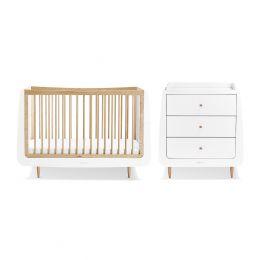 SnuzKot Skandi 2 Piece Nursery Furniture Set Natural