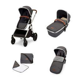 Ickle Bubba Eclipse Carrycot & Pushchair Bundle Graphite Grey