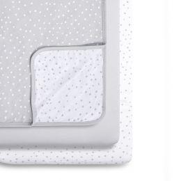 Snuz 3pc Crib Bedding Set Grey Spots