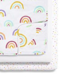 Snuz 3pc Crib Bedding Set Colour Rainbow