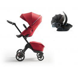 Stokke® Xplory® X Pushchair & Car Seat Ruby Red