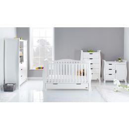 Obaby Stamford Luxe 4 Piece Room Set White