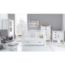 Obaby Stamford Luxe 7 Piece Room Set White