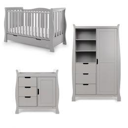Obaby Stamford Luxe 3 Piece Room Set Warm Grey