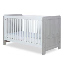 Ickle Bubba Pembrey Cot Bed Ash Grey & White