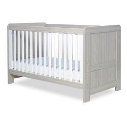 Ickle Bubba Pembrey Cot Bed Ash Grey & White Trend