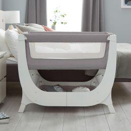 Shnuggle Air Bedside Crib Dove Grey