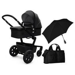Joolz Day 3 Complete Brilliant Black Plus Pram Bag & Parasol