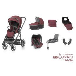 BabyStyle Oyster 3 Luxury Bundle Berry City Grey