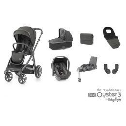 BabyStyle Oyster 3 Luxury Bundle Pepper City Grey