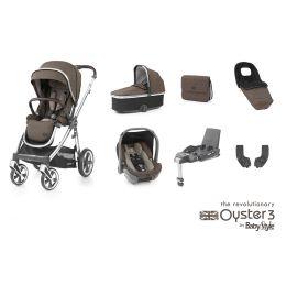 BabyStyle Oyster 3 Luxury Bundle Truffle Mirror