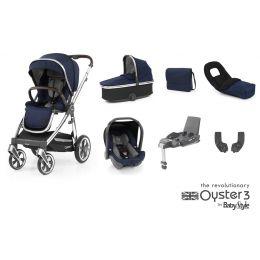 BabyStyle Oyster 3 Luxury Bundle Rich Navy Mirror