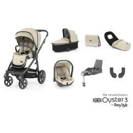 BabyStyle Oyster 3 Luxury Bundle Vanilla City Grey