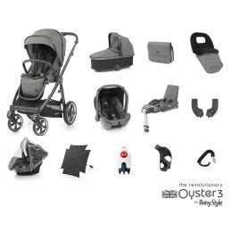 BabyStyle Oyster 3 Ultimate Bundle Mercury City Grey