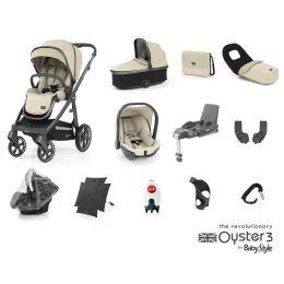 BabyStyle Oyster 3 Ultimate Bundle Vanilla City Grey
