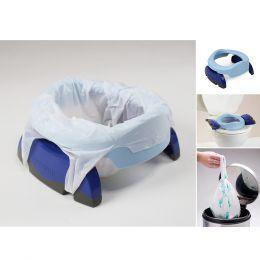 Potette Plus Potty & 3 Liners Blue & Navy