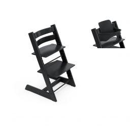 Stokke® Tripp Trapp® Chair & Baby Set™ Black Plus Free Tray