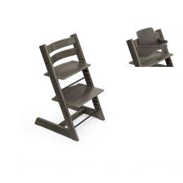 Stokke® Tripp Trapp® Chair & Baby Set™ Hazy Grey Plus Free Tray