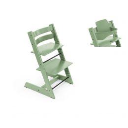 Stokke® Tripp Trapp® Chair & Baby Set™ Moss Green Plus Free Tray