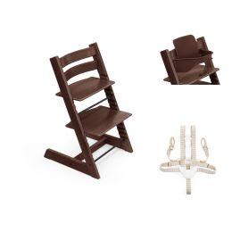 Stokke® Tripp Trapp® Chair, Baby Set™ & Harness Walnut Plus Free Tray