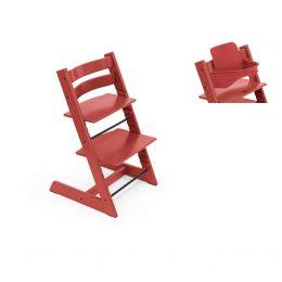 Stokke® Tripp Trapp® Chair & Baby Set™ Warm Red Plus Free Tray