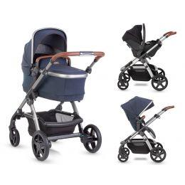 Silver Cross Wave Pram/Pushchair Indigo Plus Free Car Seat